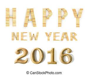 νέο έτος , ξύλινος , 2016, σχήμα
