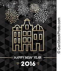 νέο έτος , 2016, amsterdam , ολλανδία , ταξιδεύω , χρυσός