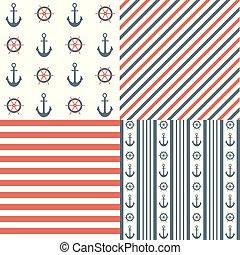 ναυτικός , seamless, πρότυπο , θέτω