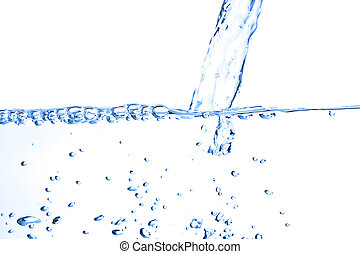 νερό , άσπρο , βουτιά , απομονωμένος