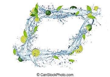 νερό , αλείφω με ιξό , βουτιά , φρέσκος , φόντο , απομονωμένος , άσπρο