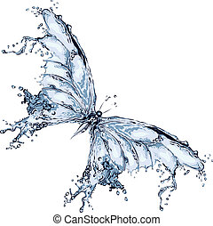 νερό , βουτιά , πεταλούδα