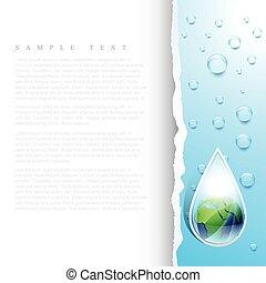 νερό , γη , σταγόνα , μικροβιοφορέας