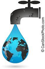 νερό , γη , σταγόνα , τρυπώ