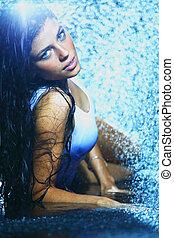νερό , γυναίκα , στούντιο