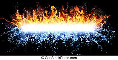νερό , ισχυρός , φωτιά