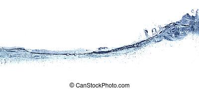 νερό , καθαρά , κυματιστός , απομονωμένος , white.