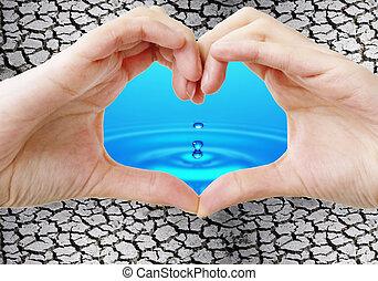 νερό , και , ξηρασία