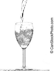 νερό , μέσα , ένα , γυαλί