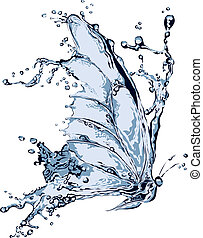 νερό , πεταλούδα , βουτιά