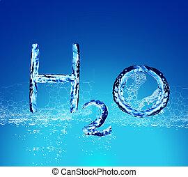 νερό , h2o , γράμματα