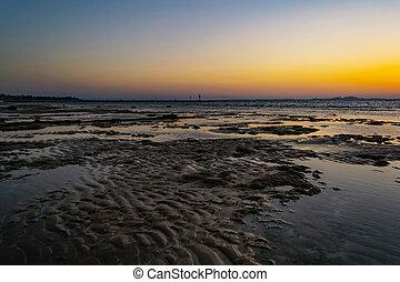 νησί , αίγυπτος , πάνω , sharm-el-sheikh, θαυμάσιος , ηλιοβασίλεμα , saudi , θάλασσα , αραβία , tiran, κόκκινο