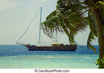 νησί , γιώτ , οκεανόs , ινδός , μικρό , ακτή
