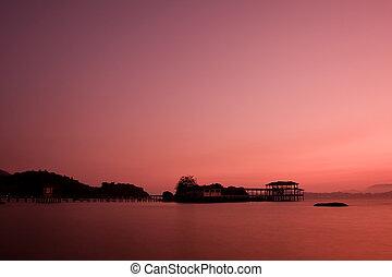 νησί , ηλιοβασίλεμα , pangkor