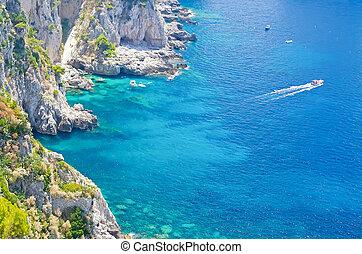 νησί , μεσόγειος θάλασσα , ιταλία , capri