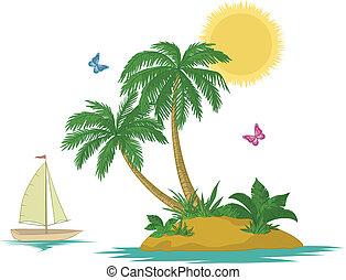 νησί , πλοίο , βάγιο