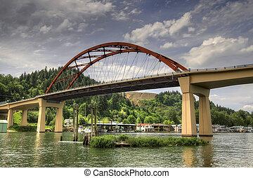 νησί , sauvie, γέφυρα