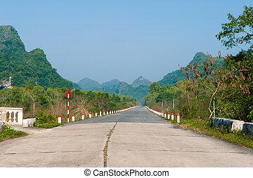 νησί , vietnam , δρόμοs , μαϊμού , μακριά
