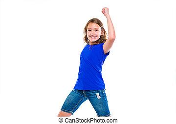 νικητήs , ανάμιξη , κορίτσι , έκφραση , ερεθισμένος , χειρονομία , παιδί