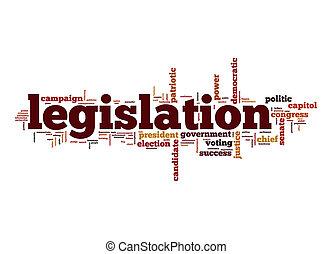 νομοθεσία , λέξη , σύνεφο