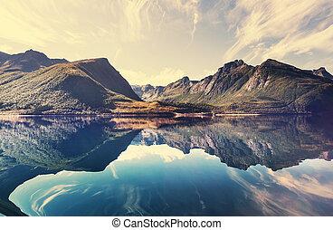 νορβηγία , γραφική εξοχική έκταση