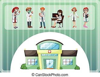 νοσοκομείο , εργαζόμενος , γιατροί