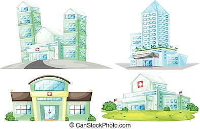 νοσοκομείο , θέτω , κτίρια
