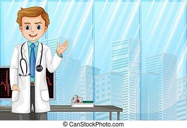 νοσοκομείο , μοντέρνος , γιατρός