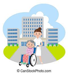 νοσοκομείο , νοσοκόμα