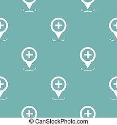 νοσοκομείο , χάρτηs , δείκτης , πρότυπο , seamless, μπλε