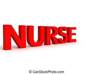 νοσοκόμα , λέξη , πλαϊνή όψη