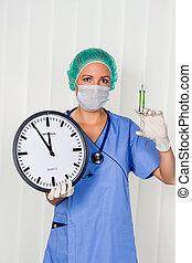 νοσοκόμα , op