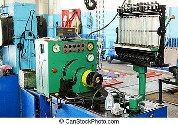 ντίζελ , injector, διαγνωστικός , και , επισκευάζω , μηχανή