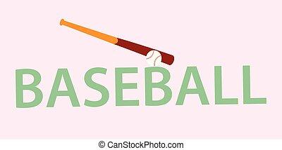 νυχτερίδα , μπάλα , μπέηζμπολ , εικόνα
