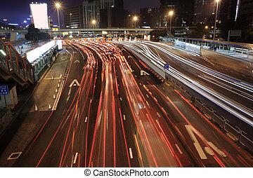 νύκτα , κυκλοφοριακή συμφόρηση , χόνγκ-κόνγκ