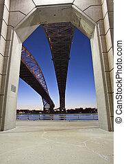 νύκτα , φωτογραφία , γαλάζιο διαύγεια , γέφυρα