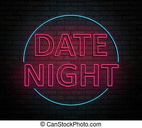 νύκτα , concept., ημερομηνία