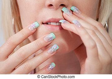 νύχια , ακρυλικός , γυναίκεs