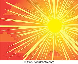 ξαφνική δυνατή ηλιακή λάμψη , θαμπάδα