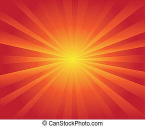 ξαφνική δυνατή ηλιακή λάμψη