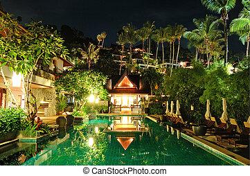 ξενοδοχείο , νύκτα , πολυτέλεια , φωταψία , σιάμ , phuket