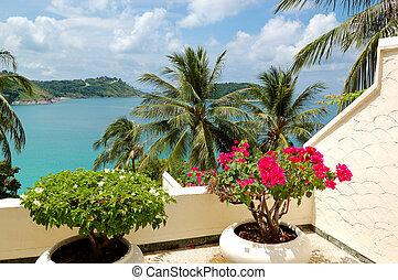 ξενοδοχείο , πολυτέλεια , ταράτσα , θάλασσα , σιάμ , phuket...