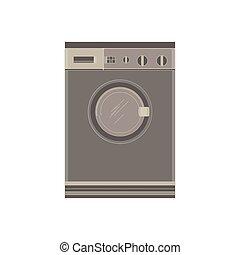 ξηραίνω αδρανής , πλύση , illustration., εικόνα , σπίτι , απομονωμένος , μηχανή , μικροβιοφορέας , αντιμετωπίζω , σπίτι , βλέπω , ηλεκτρονικός , ηλεκτρικός