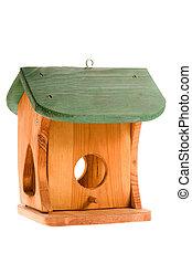 ξύλινος , άσπρο , απομονωμένος , birdhouse