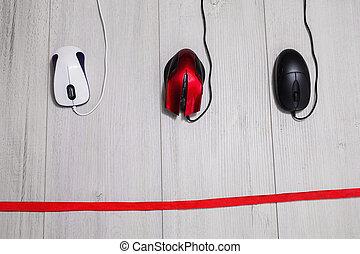 ξύλινος , αγώνας , επιχείρηση , φόντο. , ηλεκτρονικός υπολογιστής , μαύρο , άσπρο , tape., ποντίκι , κόκκινο