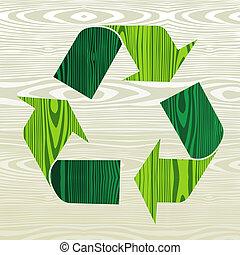 ξύλινος , ανακυκλώνω , σχήμα , γενική ιδέα , βέλος