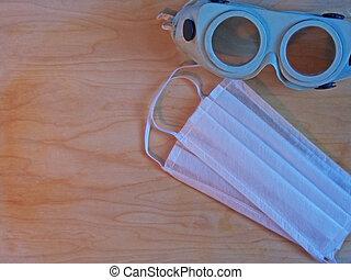 ξύλινος , αναπνευστήρας , retro , γυαλιά , φόντο