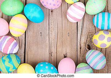 ξύλινος , αυγά , πόσχα , φόντο