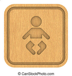 ξύλινος , βρεφικό δωμάτιο , σήμα
