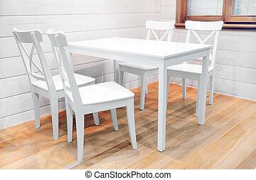 ξύλινος , γεύμα , άσπρο , τραπέζι